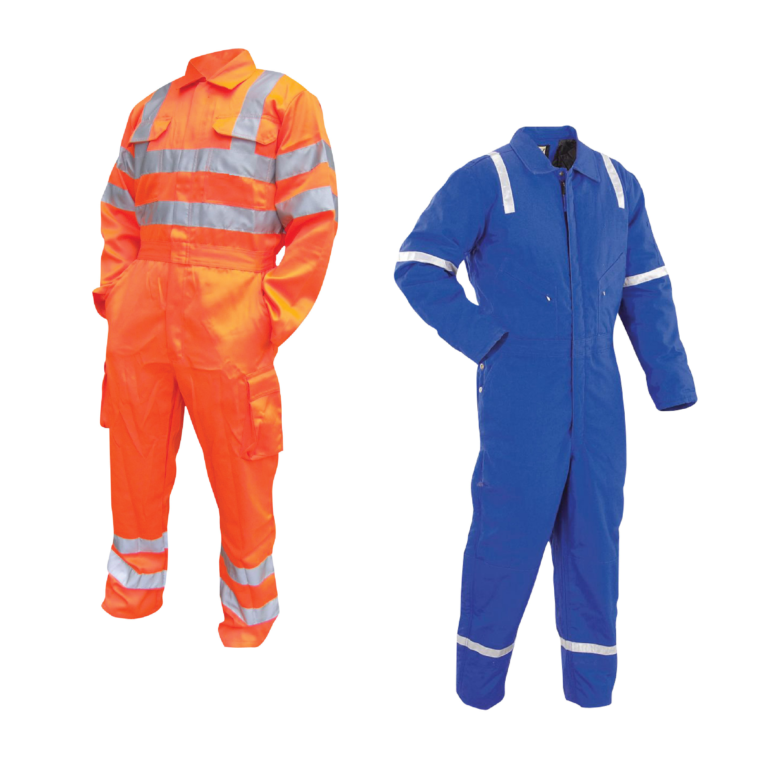 Customized Coveralls with reflectors taps