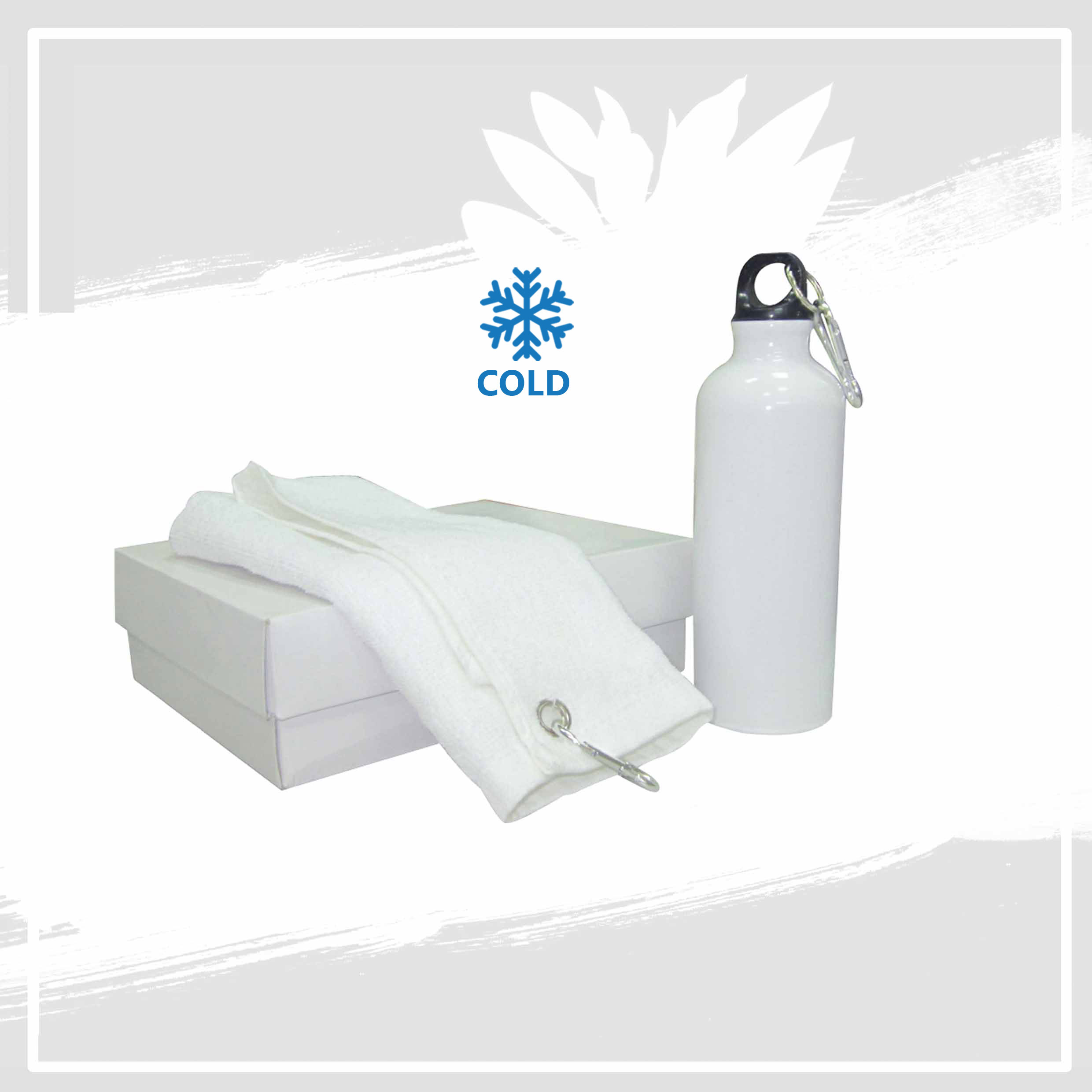 Set of Water Bottle and Towel